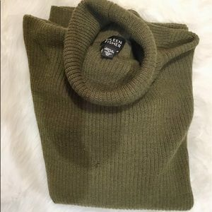 Eileen Fisher Olive Turtleneck Sweater